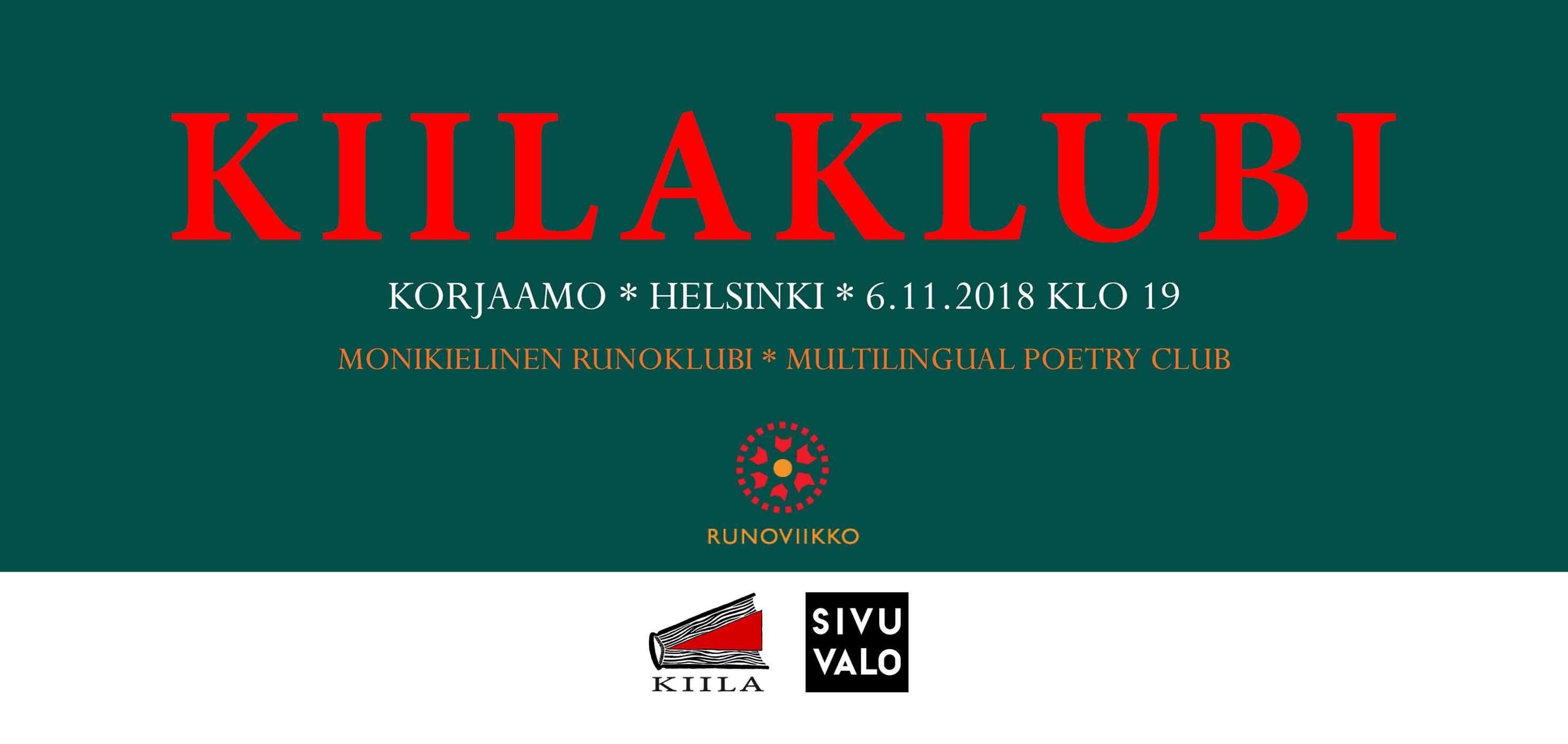 RUNO & ELÄIN – Runoviikko-festivaali