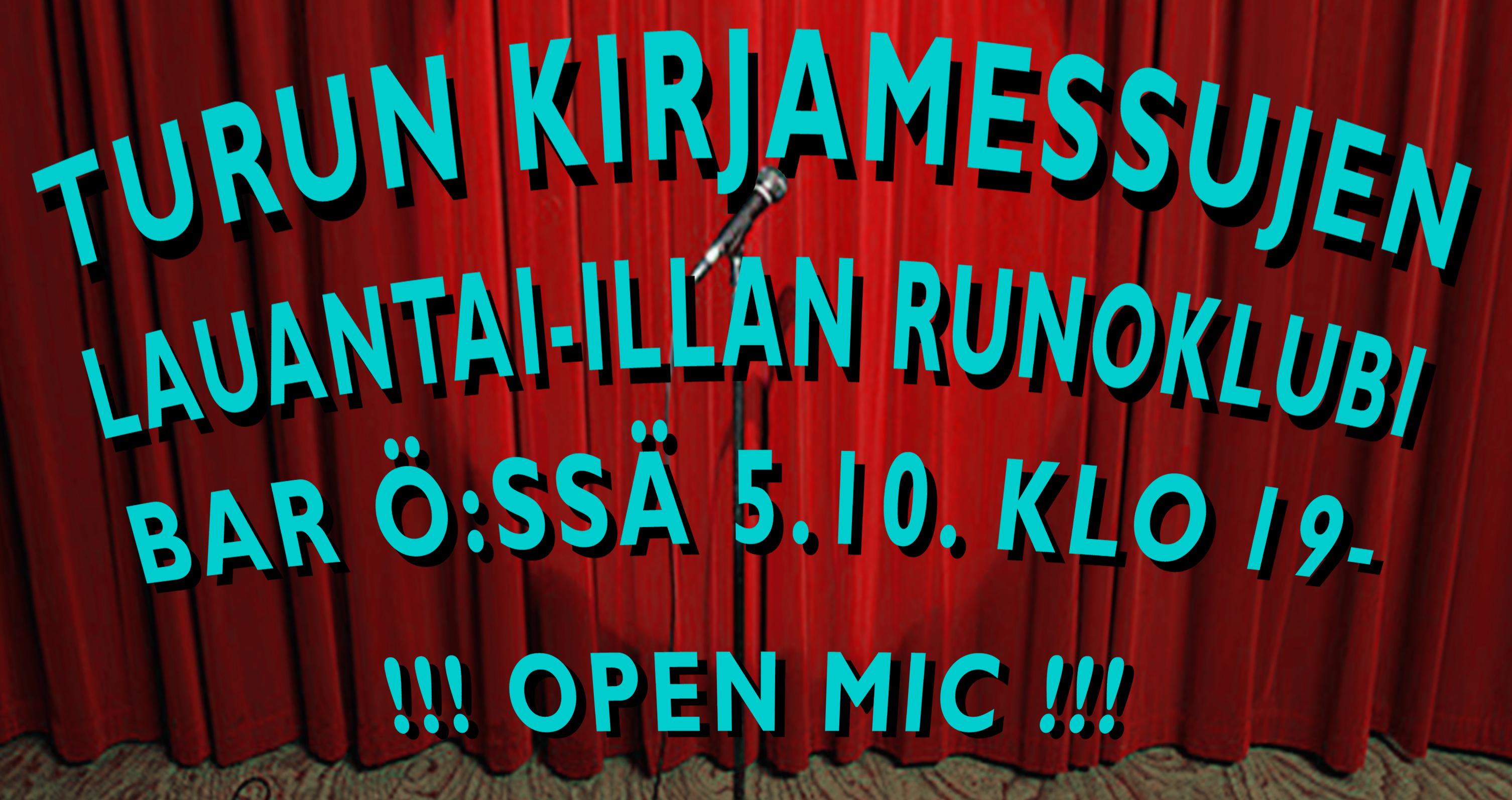 Turun kirjamessut - runoklubi