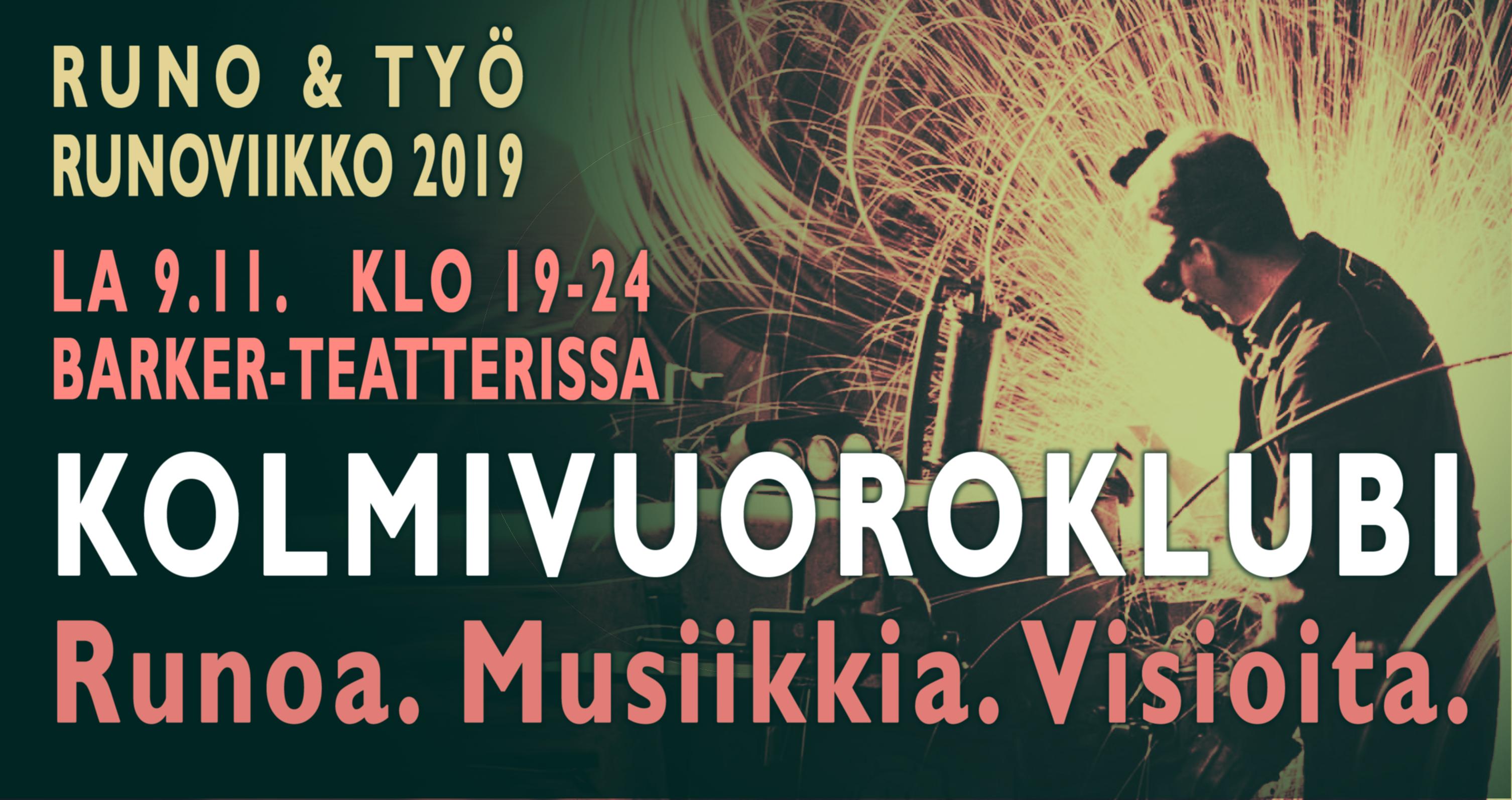 Runo & työ – festivaalin ohjelma 2019